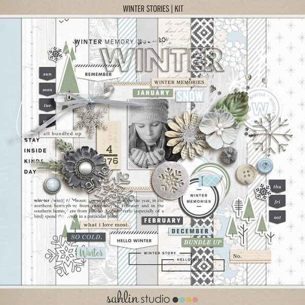 Winter Stories | Kit by Sahlin Studio - Perfect for your outdoor, winter and snow photos!!