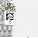 All Bundled Up BABY digital scrapbooking layout using Winter Stories by Sahlin Studio