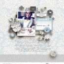 January Winter Birthday digital scrapbooking layout using Winter Stories by Sahlin Studio