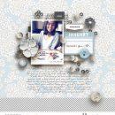 January Winter Birthday digital scrapbooking layout using Winter Stories by Sahlin Studio