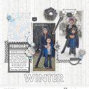 Winter (December) Journaling digital scrapbooking layout using Winter Stories by Sahlin Studio