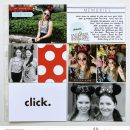 Disney Click New EARS!! Project Life scrapbooking layout using Project Mouse (Vibes) Elements by Britt-ish Designs and Sahlin Studio - Perfect for scrapbooking or in your Disney Project Life or Project Mouse albums!!