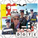 Disney Rock the Dots digital scrapbooking layout using Project Mouse (Vibes) Elements by Britt-ish Designs and Sahlin Studio