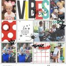 Disney Magic Vibes digital Project Life scrapbooking layout using Project Mouse (Vibes) Elements by Britt-ish Designs and Sahlin Studio - Perfect for scrapbooking or in your Disney Project Life or Project Mouse albums!!