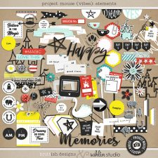 Project Mouse (Vibes) Elements by Britt-ish Designs and Sahlin Studio - Perfect for scrapbooking or in your Disney Project Life or Project Mouse albums!!