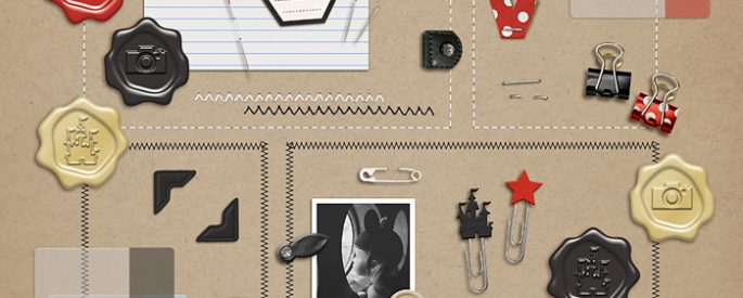Project Mouse (Essentials): Fasteners by Britt-ish Designs and Sahlin Studio - Prefect for digital scrapbooking your Project Mouse albums!!