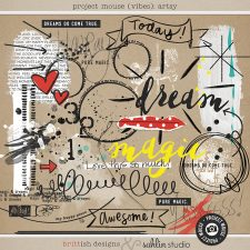 Project Mouse (Vibes) Artsy by Britt-ish Designs and Sahlin Studio - Perfect for scrapbooking or in your Disney Project Life or Project Mouse albums!!