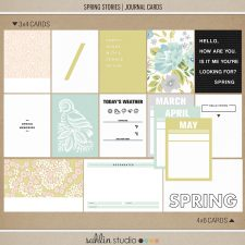 Spring Stories (Journal Cards) by Sahlin Studio - Perfect for scrapbooking your spring/ Easter Project Life memories.