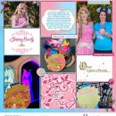 Meeting Disney Aurora Sleeping Beauty Princess digital scrapbook layout using Project Mouse (Princess) Aurora | Kit & Journal Cards by Britt-ish Designs and Sahlin Studio