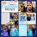 Meeting Disney Cinderella Princess BRUNCH digital Project Life scrapbook layout using Project Mouse (Princess) Cinderella | Kit & Journal Cards by Britt-ish Designs and Sahlin Studio