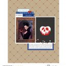 Once Upon a Time digital scrapbook layout using Project Mouse (Princess) Snow White   Journal Cards & Kit by Britt-ish Designs and Sahlin Studio
