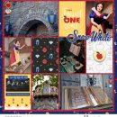 Disney Snow White Scary Adventure Ride Princess digital Project Life scrapbook layout using Project Mouse (Princess) Snow White   Kit & Journal Cards by Britt-ish Designs and Sahlin Studio