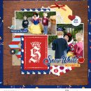 Meeting Disney Snow White Princess digital scrapbook layout using Project Mouse (Princess) Snow White | Journal Cards & Kit by Britt-ish Designs and Sahlin Studio