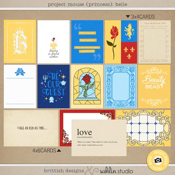 Project Mouse (Princess) Belle | Journal Cards by Britt-ish Designs and Sahlin Studio - Perfect for documenting Beauty and the Beast or other magical moments in your Project Life / Project Mouse album!!