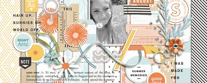 Summer Stories   Kit by Sahlin Studio - Perfect for all of your summer, swimming, beach, pool scrapbooking layouts.