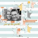 Summer Documented digital scrapbook layout using Summer Stories | Kit by Sahlin Studio