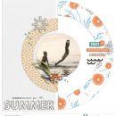 Summer Beach Documented digital scrapbook layout using Summer Stories | Kit by Sahlin Studio