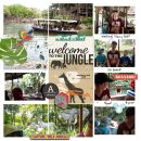 Disney Welcome to the Jungle Cruise digital scrapbook layout using Project Mouse (Animal) | Artsy & Pins by Britt-ish Designs and Sahlin Studio