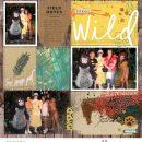 Disney Wild Tarzan Animal Kingdom digital scrapbook layout using Project Mouse (Animal) | Artsy & Pins by Britt-ish Designs and Sahlin Studio