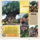 Disney Animal Kingdom Tree of Life digital scrapbook layout using Project Mouse (Animal) | Artsy & Pins by Britt-ish Designs and Sahlin Studio