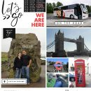 Travelogue LONDON England digital Project Life scrapbook page layout using On Our Way - a travel collection by Sahlin Studio