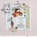 Travelogue digital scrapbook page layout using On Our Way - a travel collection by Sahlin Studio