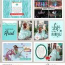 Life is the Bubbles Meeting Disney Princess Ariel Little Mermaid digital Project Life scrapbook layout using Project Mouse (Princess) Ariel | Kit & Journal Cards by Britt-ish Designs and Sahlin Studio