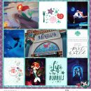 Disney Princess Ariel Little Mermaid Part of this World digital Project Life scrapbook layout using Project Mouse (Princess) Ariel | Kit & Journal Cards by Britt-ish Designs and Sahlin Studio