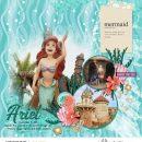 Disney Princess Ariel Little Mermaid digital scrapbook page layout using Project Mouse (Princess) Ariel | Kit & Journal Cards by Britt-ish Designs and Sahlin Studio