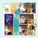 Meeting Disney Princess Jasmine, Aladdin + Genie digital Project Life scrapbook layout using Project Mouse (Princess) Jasmine | Kit & Journal Cards by Britt-ish Designs and Sahlin Studio