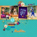 Disney Parade Aladdin Princess Jasmine + Genie digital scrapbook page layout using Project Mouse (Princess) Jasmine | Kit & Journal Cards by Britt-ish Designs and Sahlin Studio