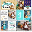 Costumes Disney Princess Jasmine + Rajah Halloween digital Project Life scrapbook layout using Project Mouse (Princess) Jasmine | Kit & Journal Cards by Britt-ish Designs and Sahlin Studio