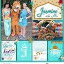 Meeting Disney Princess Jasmine + Abu digital Project Life scrapbook layout using Project Mouse (Princess) Jasmine | Kit & Journal Cards by Britt-ish Designs and Sahlin Studio