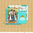 Disney Princess Jasmine + Aladdin digital scrapbook page layout using Project Mouse (Princess) Jasmine | Kit & Journal Cards by Britt-ish Designs and Sahlin Studio
