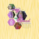 Costume Tangled Rapunzel Halloween digital scrapbook page layout using Project Mouse (Princess) Rapunzel | Kit & Journal Cards by Britt-ish Designs and Sahlin Studio