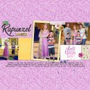 Meeting Disney Princess Rapunzel digital scrapbook page layout using Project Mouse (Princess) Rapunzel | Kit & Journal Cards by Britt-ish Designs and Sahlin Studio