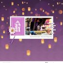 Rapunzel and Flynn Ryder digital scrapbook page layout using Project Mouse (Princess) Rapunzel | Kit & Journal Cards by Britt-ish Designs and Sahlin Studio