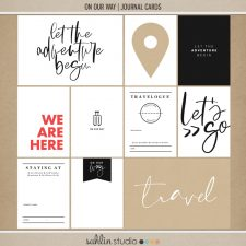 On Our Way (Journal Cards) by Sahlin Studio - Perfect for all of your travels in your Smash Books, Project Life album or digital scrapbooking!!