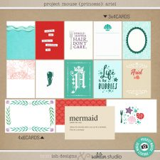 Project Mouse (Princess) Ariel | Journal Cards by Britt-ish Designs and Sahlin Studio - Perfect for documenting Disney Ariel or other magical moments in your Project Life / Project Mouse album!!