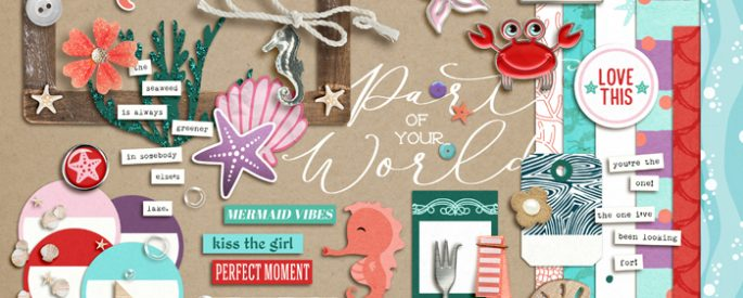 Project Mouse (Princess) Ariel | Kit by Britt-ish Designs and Sahlin Studio - Perfect for documenting Disney Ariel or other magical moments in your Project Life / Project Mouse album!!