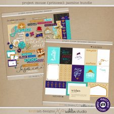Project Mouse (Princess) Jasmine | BUNDLE by Britt-ish Designs and Sahlin Studio - Perfect for documenting Disney Jasmine or other magical moments in your Project Life / Project Mouse album!!