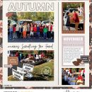 Hello Fall Digital Scrapbooking page using Autumn Stories | Journal Cards by Sahlin Studio