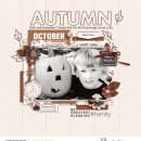 My Greatest Blessing Fall Digital Scrapbooking page using Autumn Stories | Journal Cards by Sahlin Studio