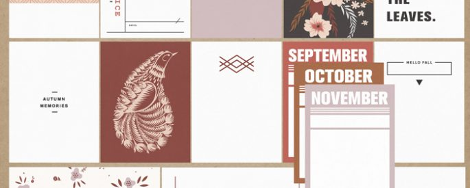 Autumn Stories   Journal Cards by Sahlin Studio - Perfect for documenting your fall / autumn scrapbooks and Project Life albums!!