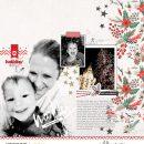 December Making Memories digital scrapbook page using Holly Days by Sahlin Studio