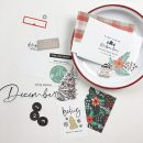 December Daily Foundation pages using Holly Days by Sahlin Studio