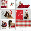 Holly Making Merry digital Project Life scrapbook page using Holly Days by Sahlin Studio