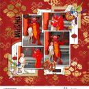 Mushu Dragon China digital scrapbook page layout using Project Mouse (Princess) Mulan | Kit & Journal Cards by Britt-ish Designs and Sahlin Studio