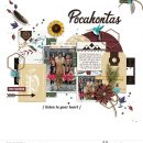 Meeting Pocahontas Just Around the River bend digital scrapbook page layout using Project Mouse (Princess) Pocahontas | Kit & Journal Cards by Britt-ish Designs and Sahlin Studio