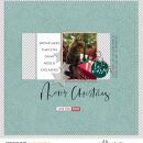 Merry Christmas Cheer digital scrapbooking layout using Favorite Things (Journal Cards) by Sahlin Studio